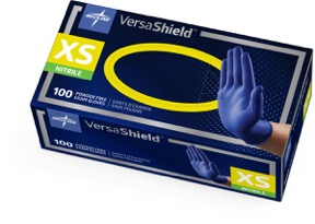 VERSASHIELD NITRILE POWDER-FREE EXAM GLOVE X-PROTECTION CHEMO-TESTED X-SMALL