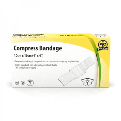 F1103801 - Compress Bandage, 10 x 10cm, 1/Box