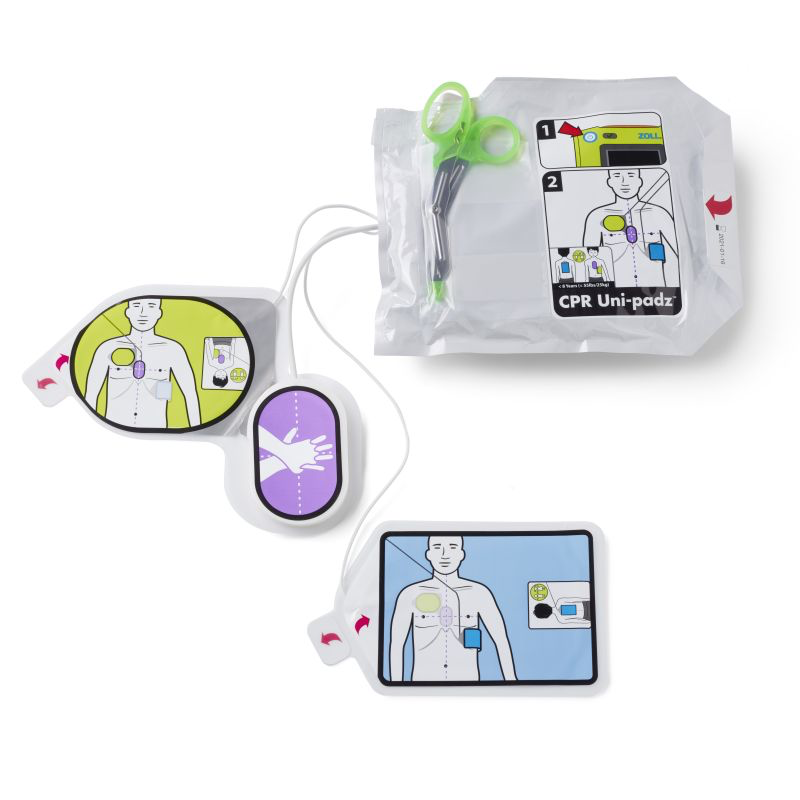 CPR Uni-padz Universal (Adult/Pediatric) electrodes (5 Year Shelf Life)