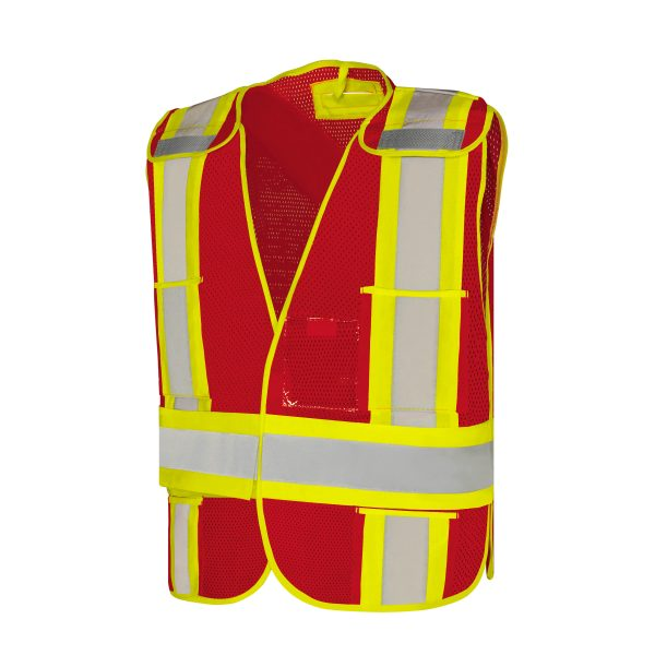 Five Point Tear-Away Safety Vest With Five Pockets
