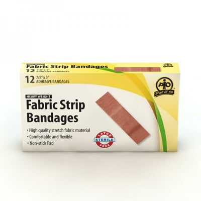 F1504812  - Fabric Strip Bandages (12 Pack)