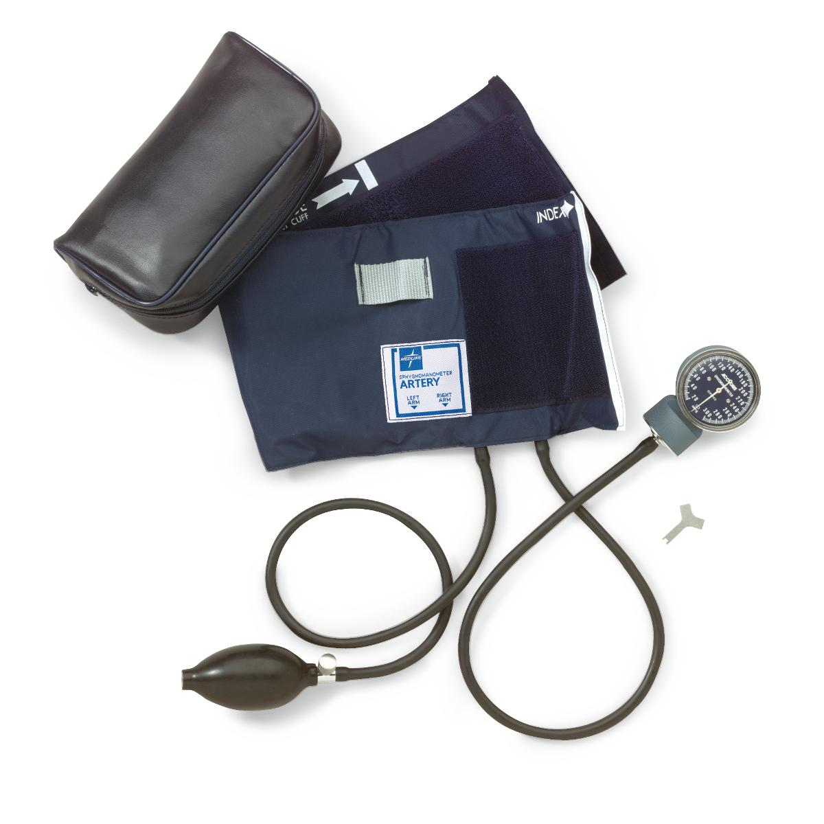 BLOOD PRESSURE UNIT ANEROID DIAL HAND HELD WITH LARGE ADULT CUFF