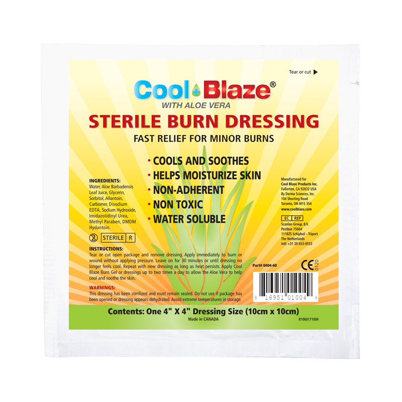 Cool Blaze 10 x 10cm Burn Dressing, Bulk