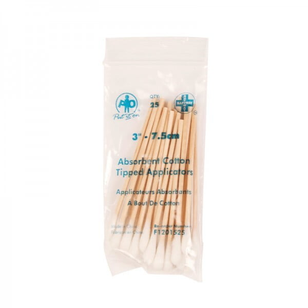 Cotton-Tipped Applicators, 7.5cm, 25/Bag