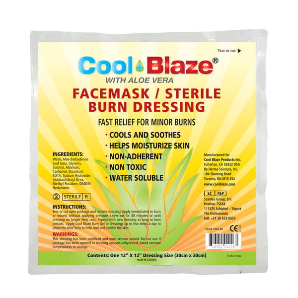 Cool Blaze 30 x 30cm Face Mask, Burn Dressing