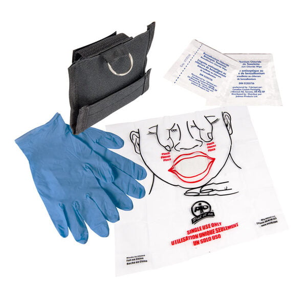 CPR Aid Compact Barrier Key Chain Kit